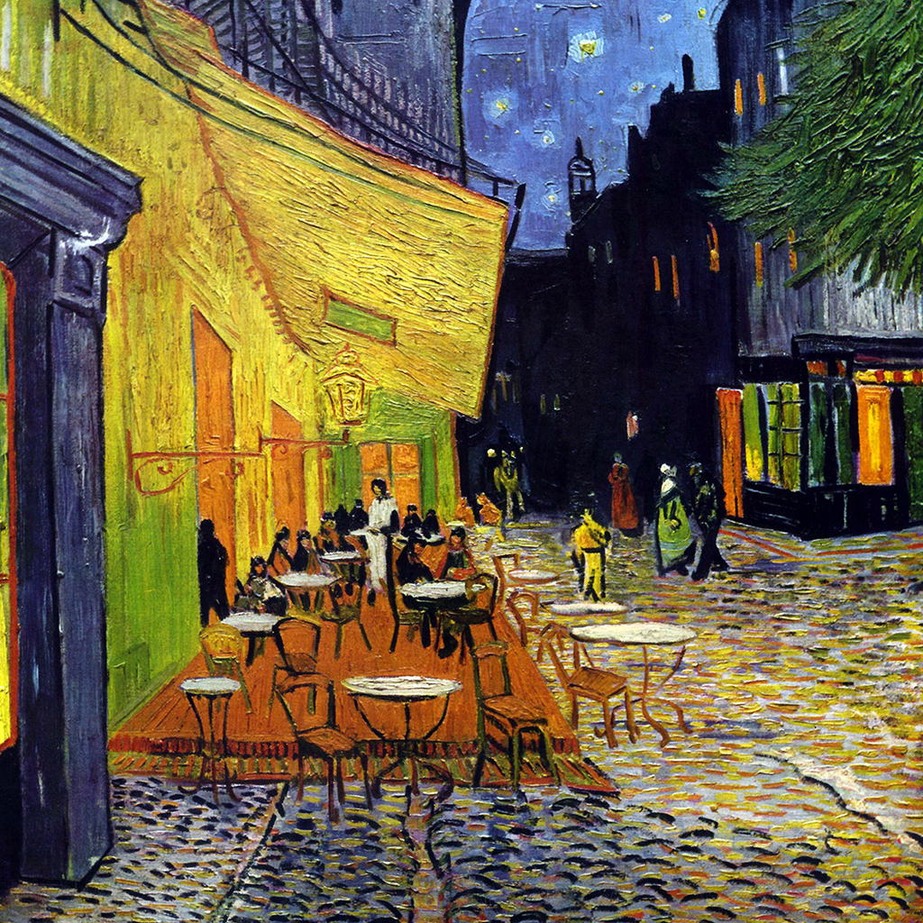 A second last supper in Van Gogh's Café Terrace at Night