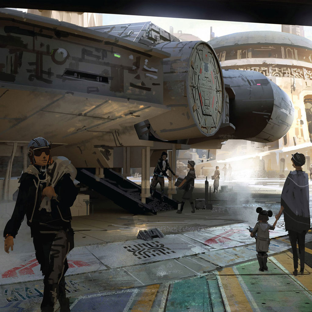 PARTNER TL STAR WARS LAND CONCEPT ART FWX