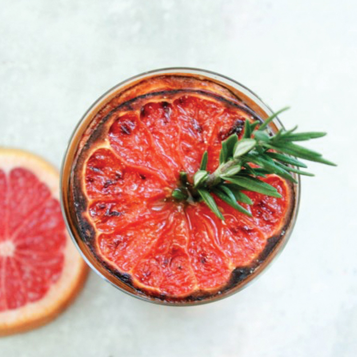 Roasted Grapefruit Rum Mule