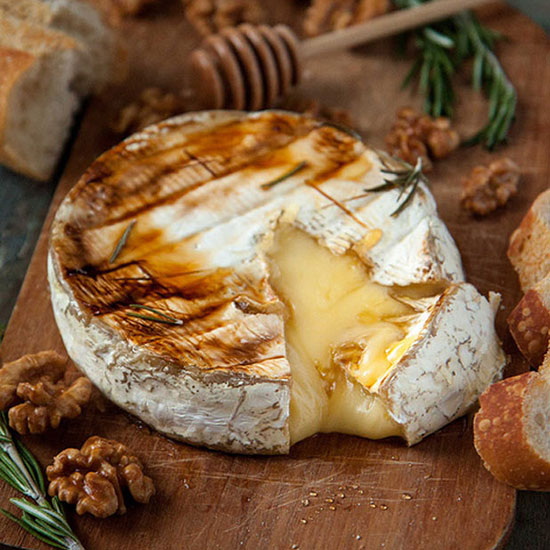 Baked Brie with Honey, Rosemary and Candied Walnuts