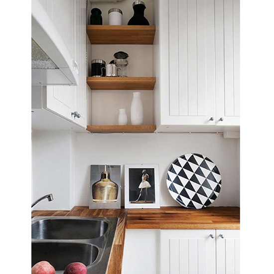 And Squeeze Small Shelves Into Every Nook and Cranny