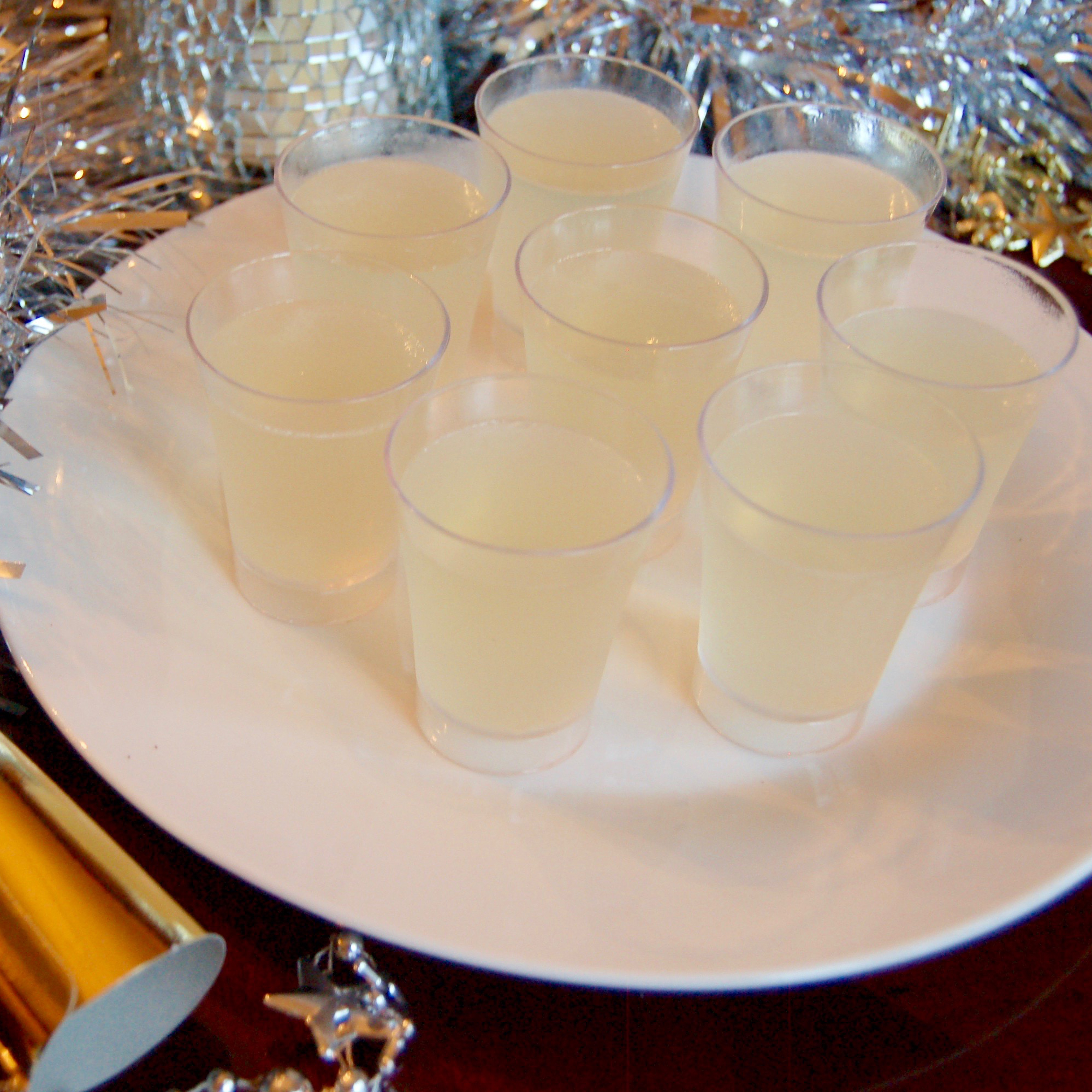 Champagne Jell-O Shots - New Year's Cocktails