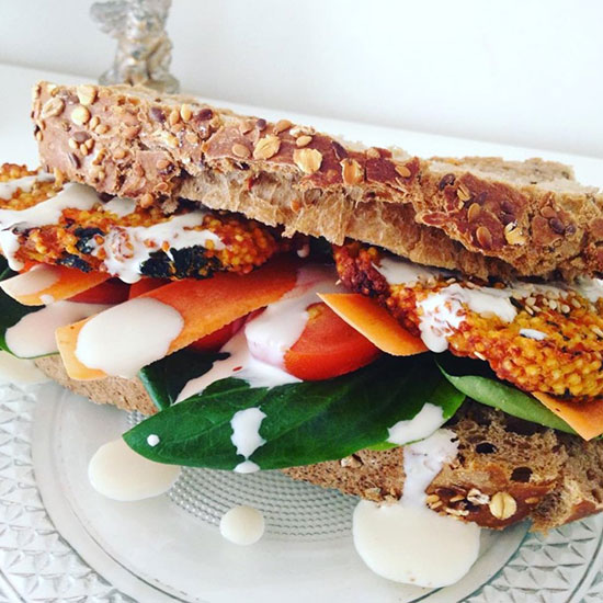 Sweet Potato Breakfast Sandwich