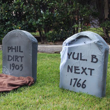 pinterest halloween craft tombstones