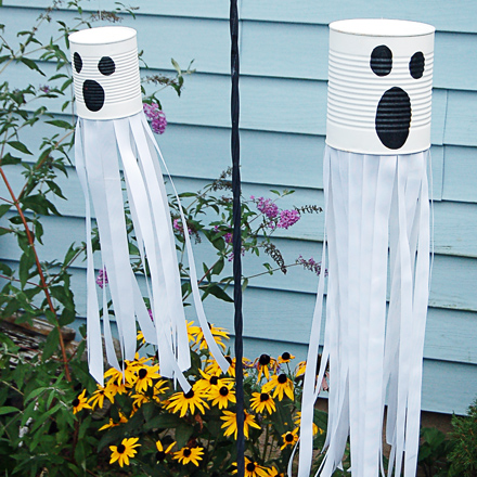 pinterest halloween craft ghost windsock