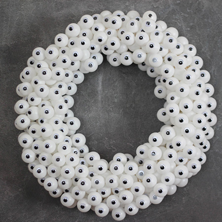 pinterest halloween craft googly eyes wreath