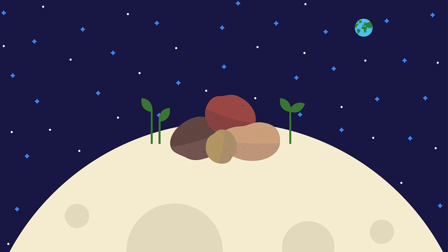 china grows potatoes in space
