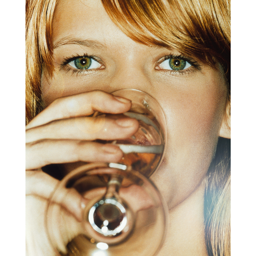 Woman, Drinking, Wine