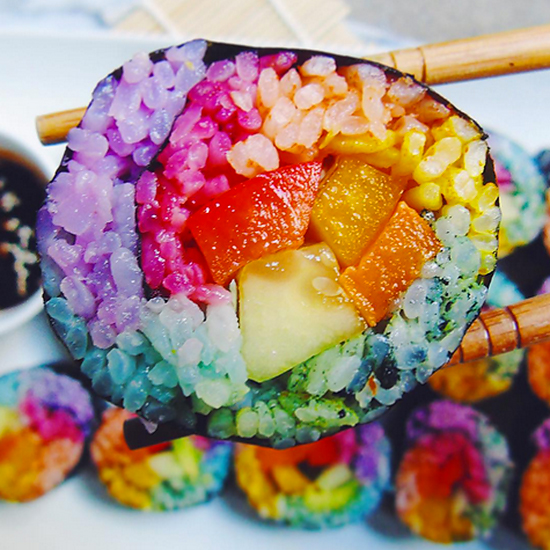 Rainbow Sushi, The Indigo Kitchen