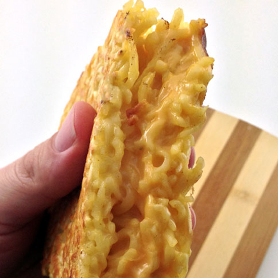 The ramen grilled cheese sandwich.