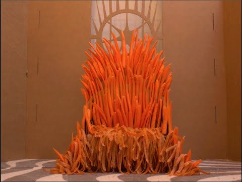Someone Built the Iron Throne Out of Carrots Because He Clearly Can't Wait for Game of Thrones to Come Back