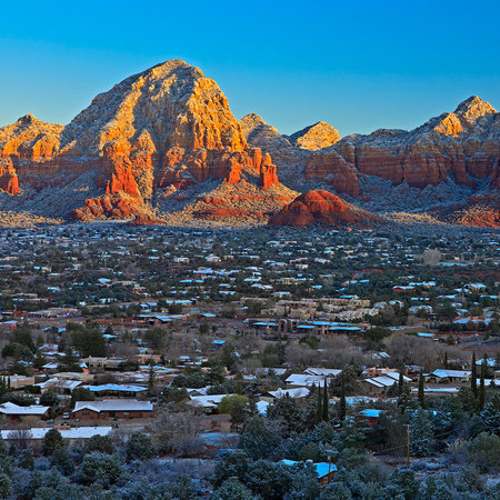 romantic winter destination sedona