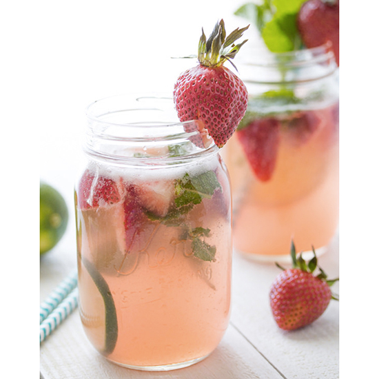 Strawberry Rhubarb Rosé Sangria