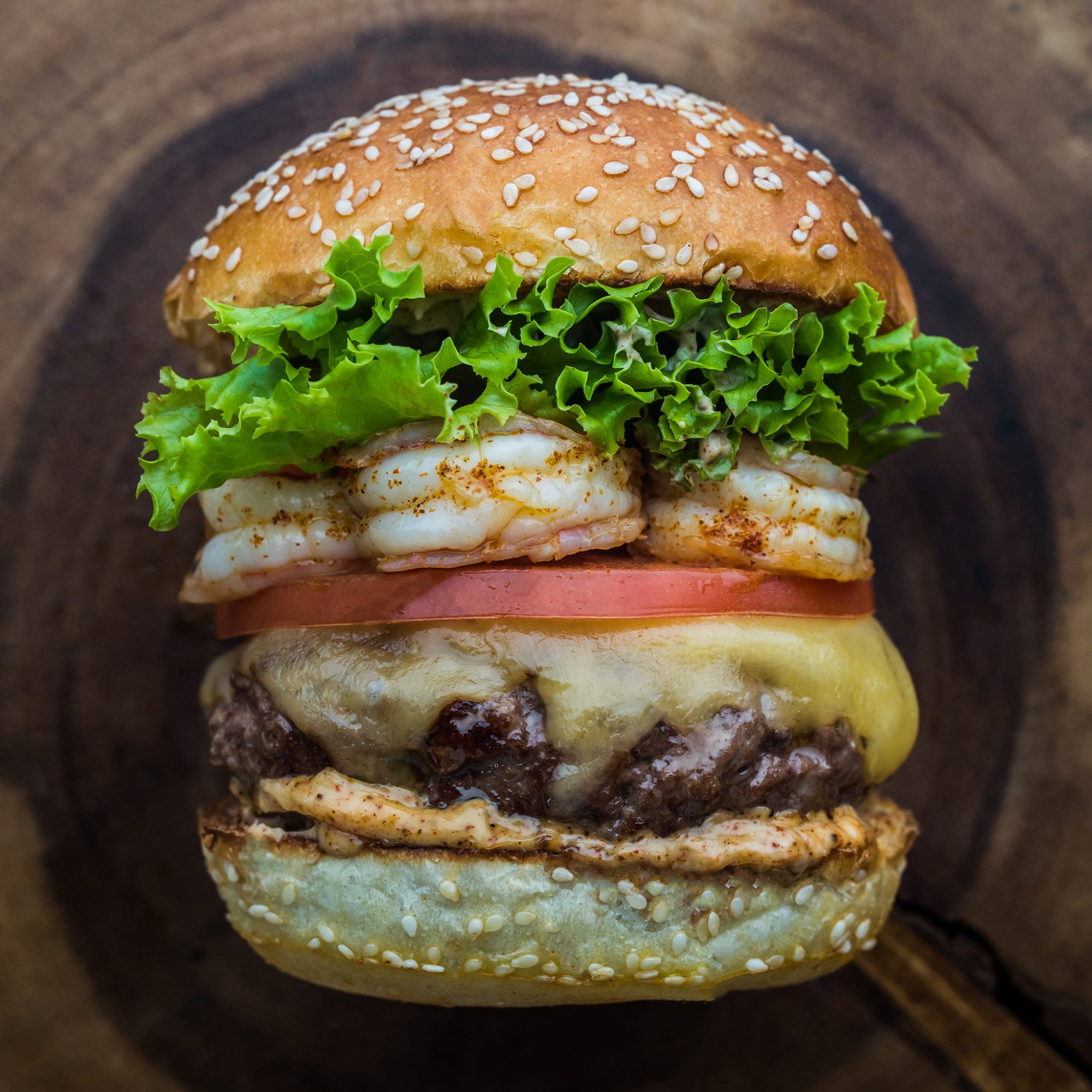 shrimp-surf-and-turf-burger-stacked-fwx