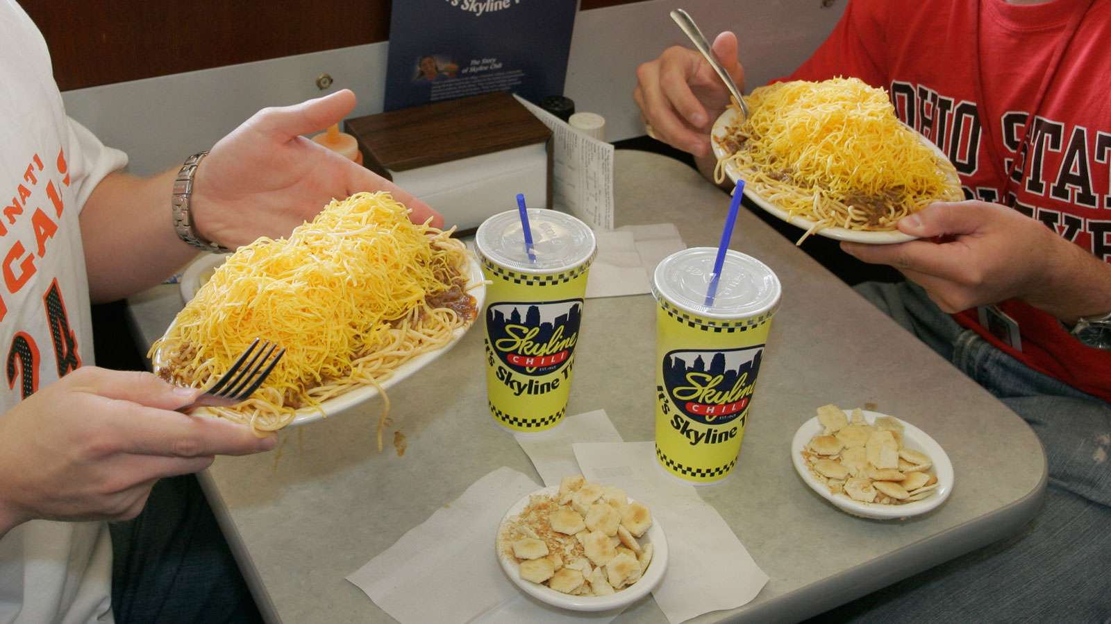 Skyline Chili is a Cincinnati tradition. Average rating: 5 out of 5 stars, based on 0 reviews I grew up eating Skyline cheese coneys, chili sandwiches, 3 ways, and four ways/5(25).