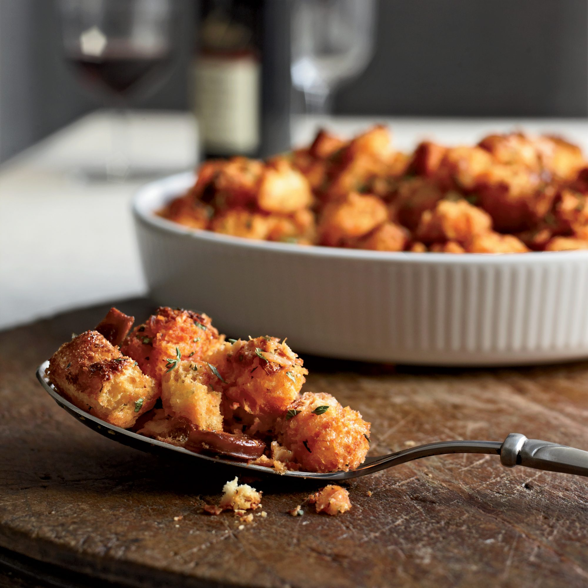 Smoky Chorizo Stuffing Recipe - George Mendes | Food & Wine