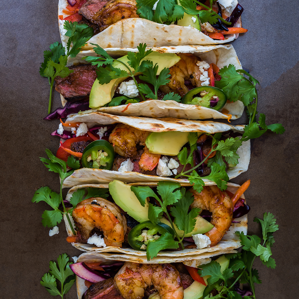 STACKED SHRIMP TACOS FWX