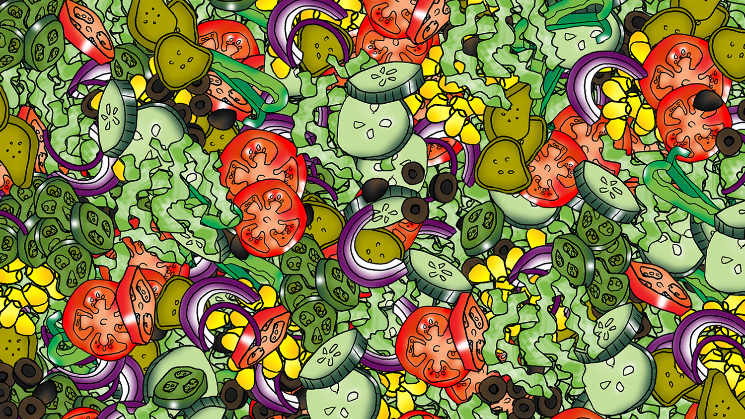"""Can You Spot the """"Caesar"""" In This Salad Puzzle?"""