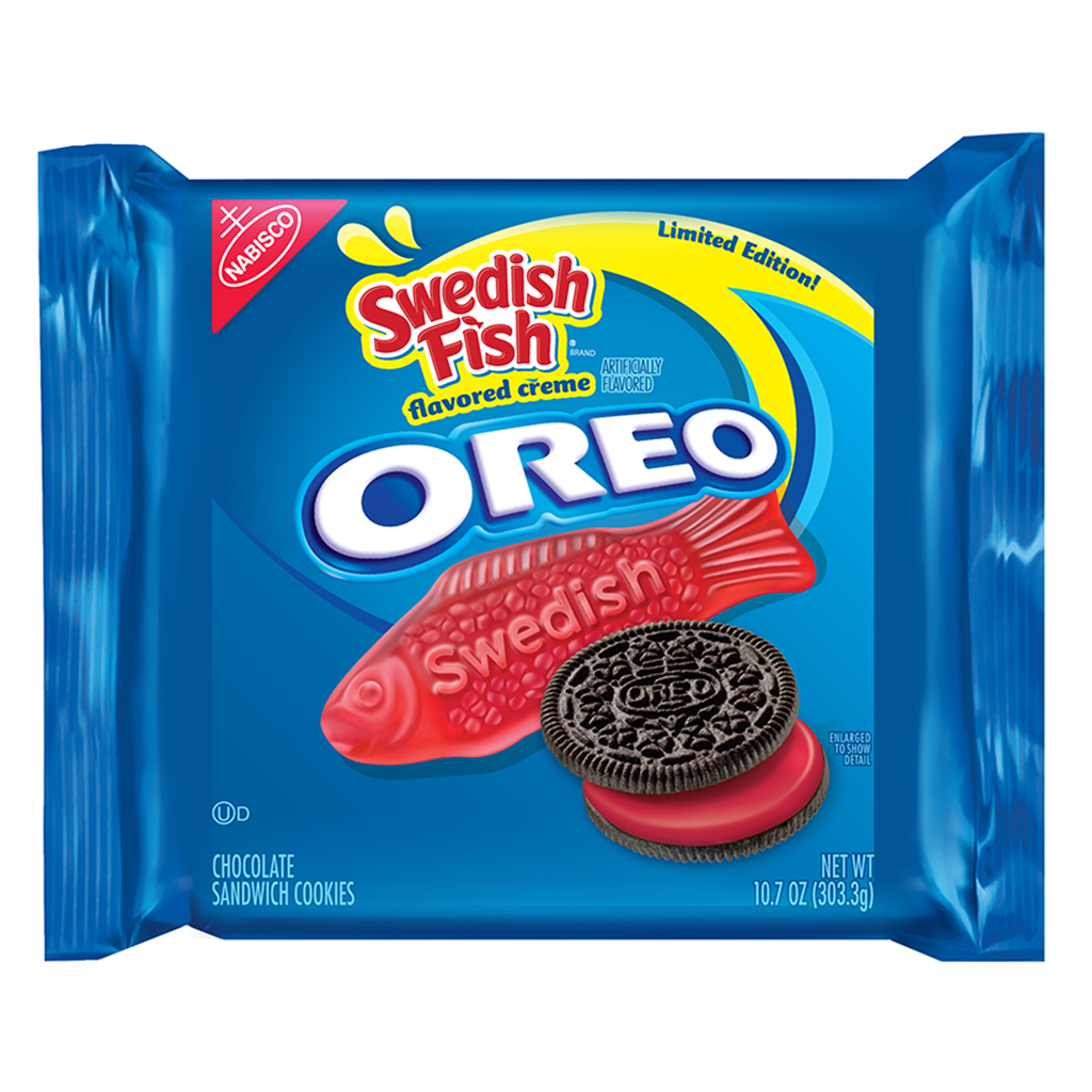 Oreo, cookie, swedish fish