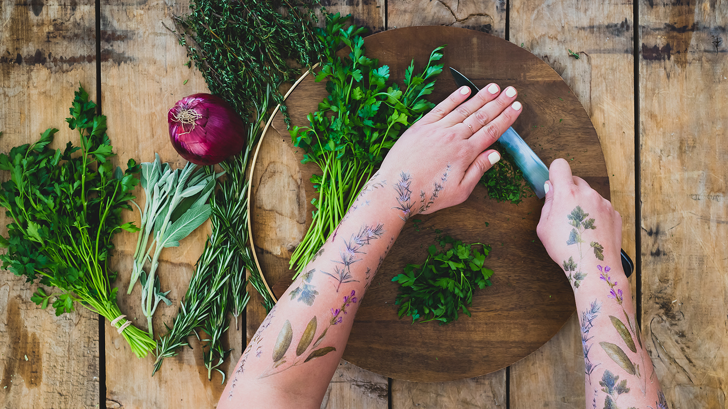 tattly temporary tattoos of spices scented