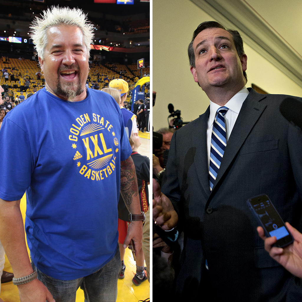 Ted Cruz, Guy Fieri
