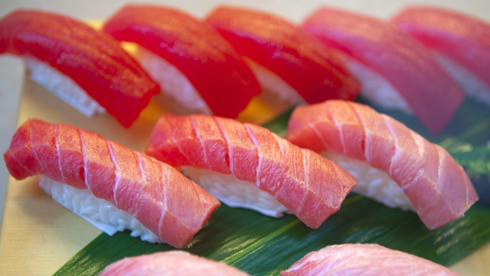 Sample of hand rolled sushi