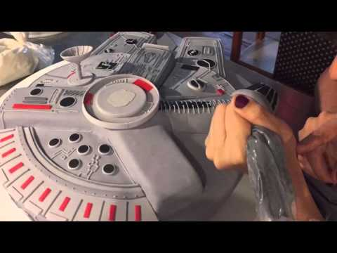 Waste 3 Minutes Watching a Millennium Falcon Cake Get Made from Start to Finish