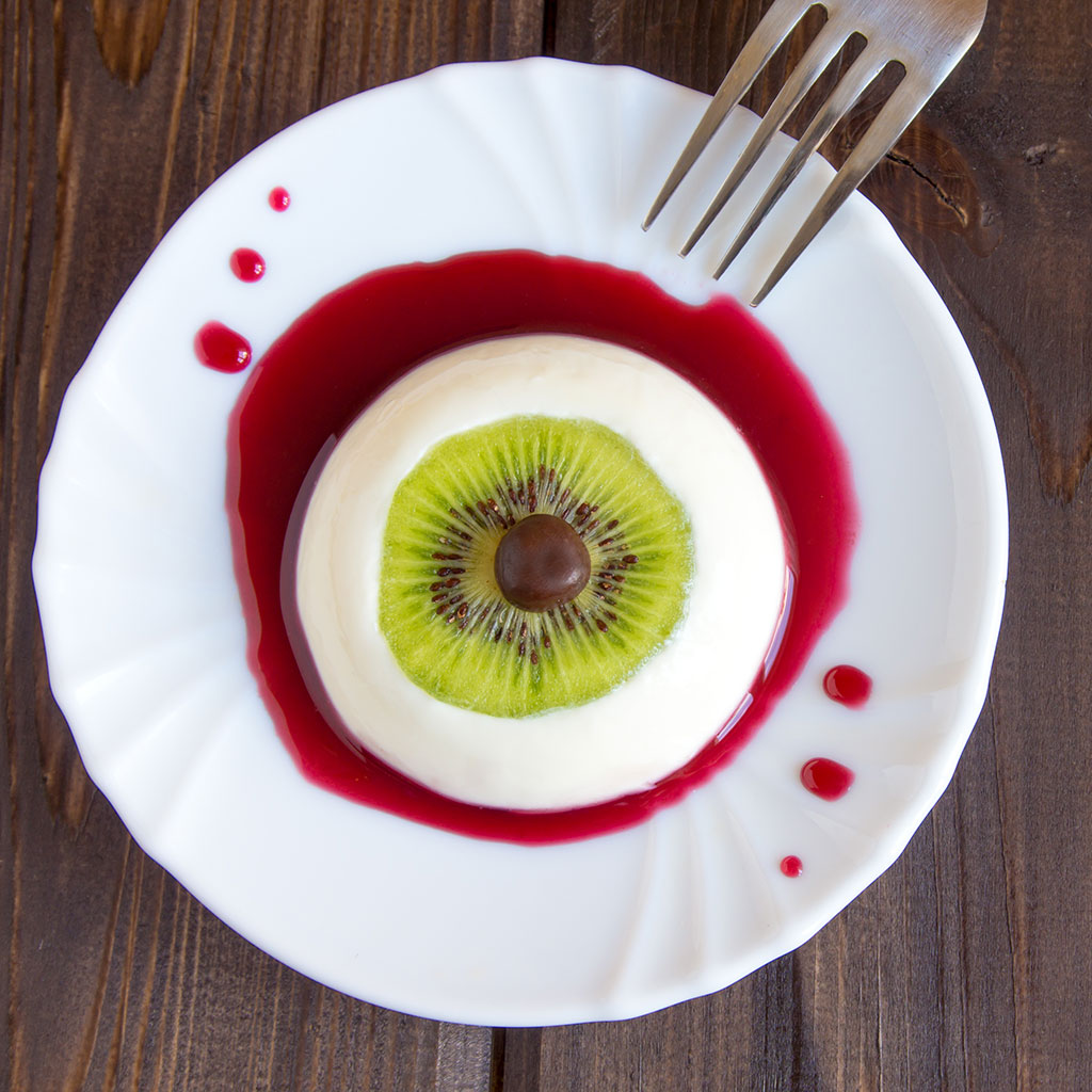 Eyeball Panna Cotta