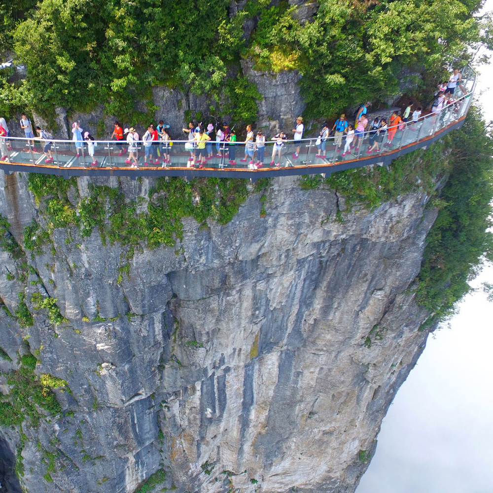 This Glass Walkway Offers Dizzying Views of a Mountain Ravine