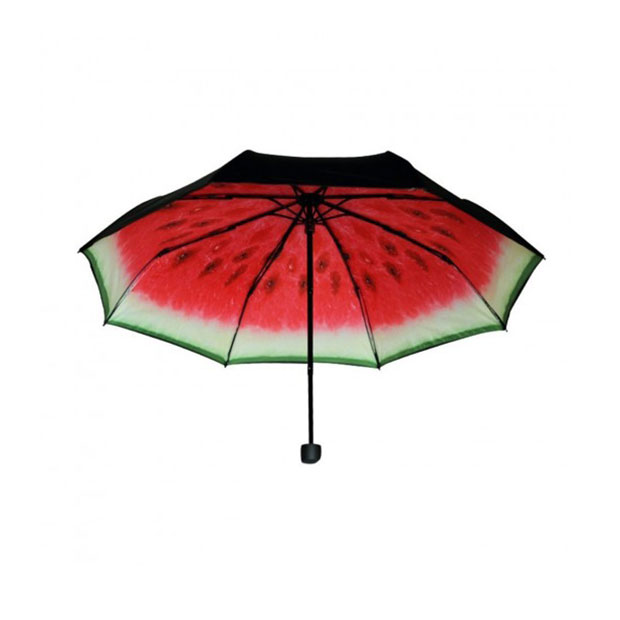 food-themed, travel, umbrella, watermelon
