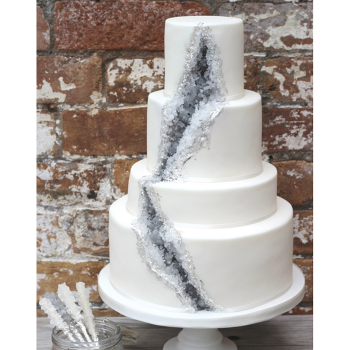 7 Wedding Cake Trends That Will Make Your Mouth Water Food Wine - Geode Wedding Cake