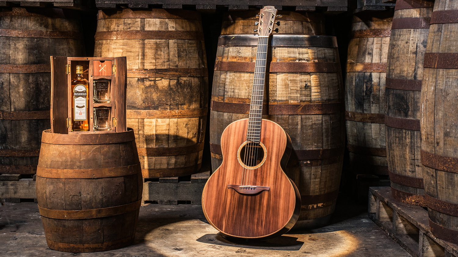 This Guitar Was Built with Wood from Bushmills Irish Whiskey Barrels