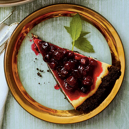 holiday white chocolate cranberry cheesecake