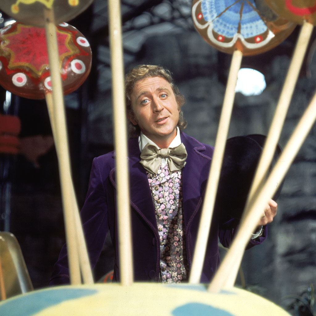 Willy Wonka, burger, Gene Wilder