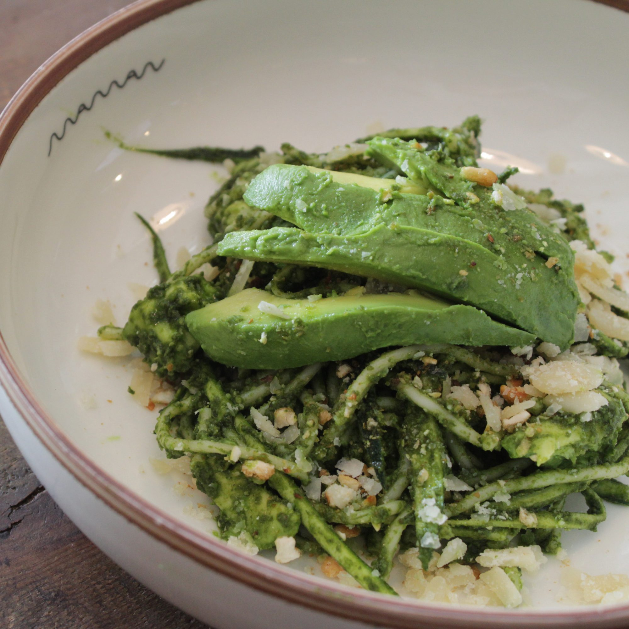Get Green With This Avocado Zucchini Pasta