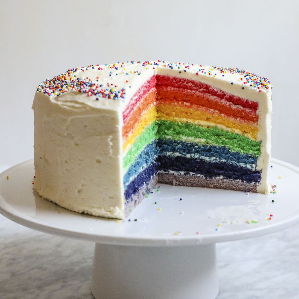 Cake Recipes Rainbow: Rainbow Cake Recipe - Anna Painter