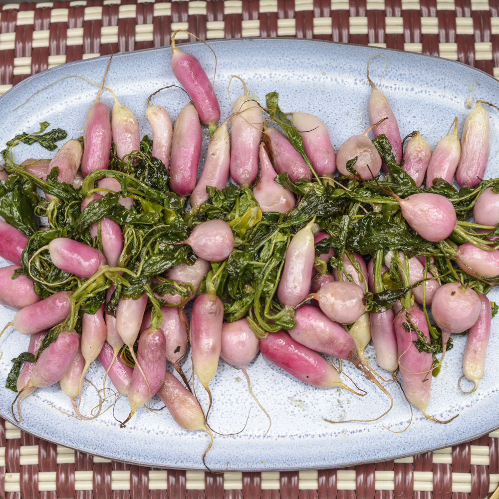 Maple Roasted Radishes