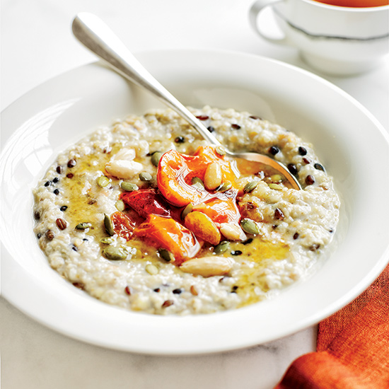 Mashed Banana & Whole-Grain Porridge