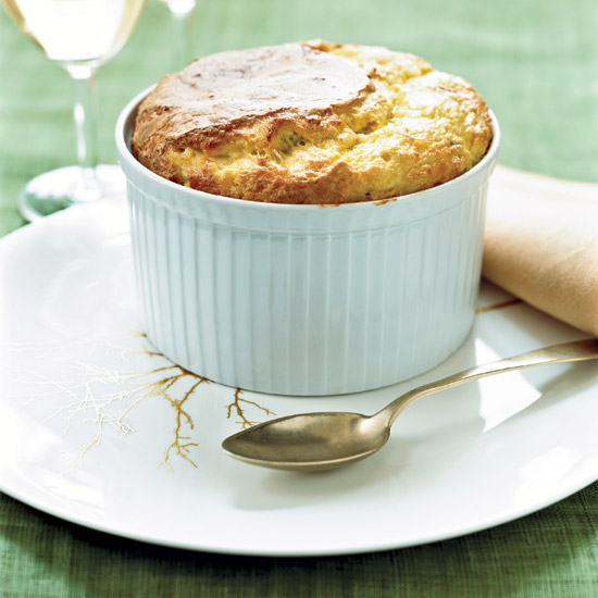 Day 25: Fresh Corn Soufflé with Bacon and Comté