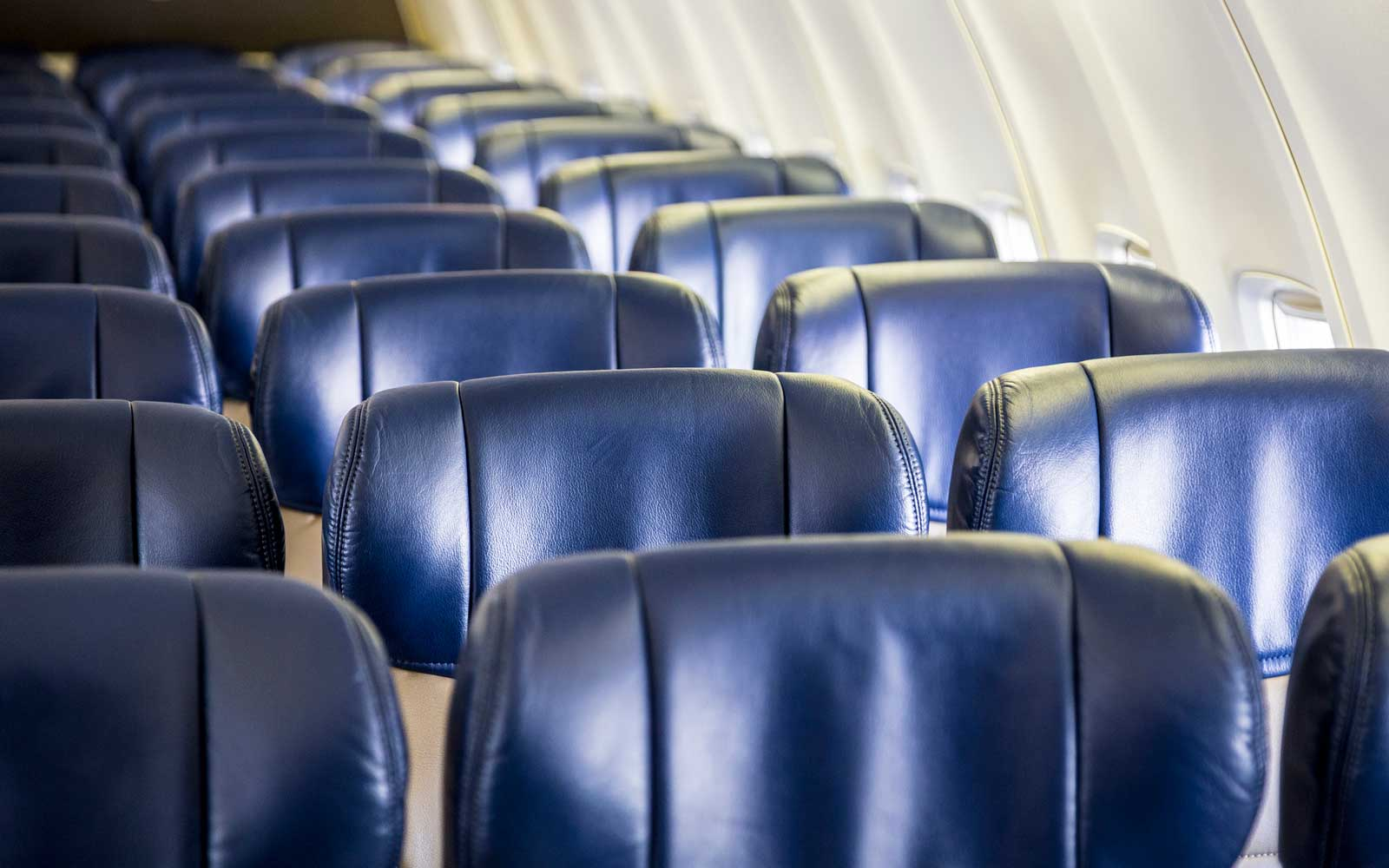 Empty Seats on an Airliner