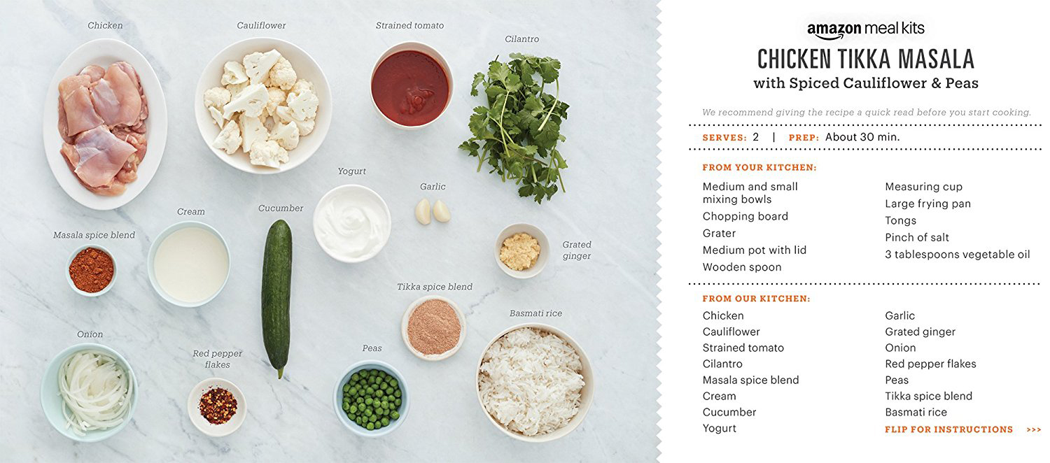 ingredients mailed to AmazonFresh users