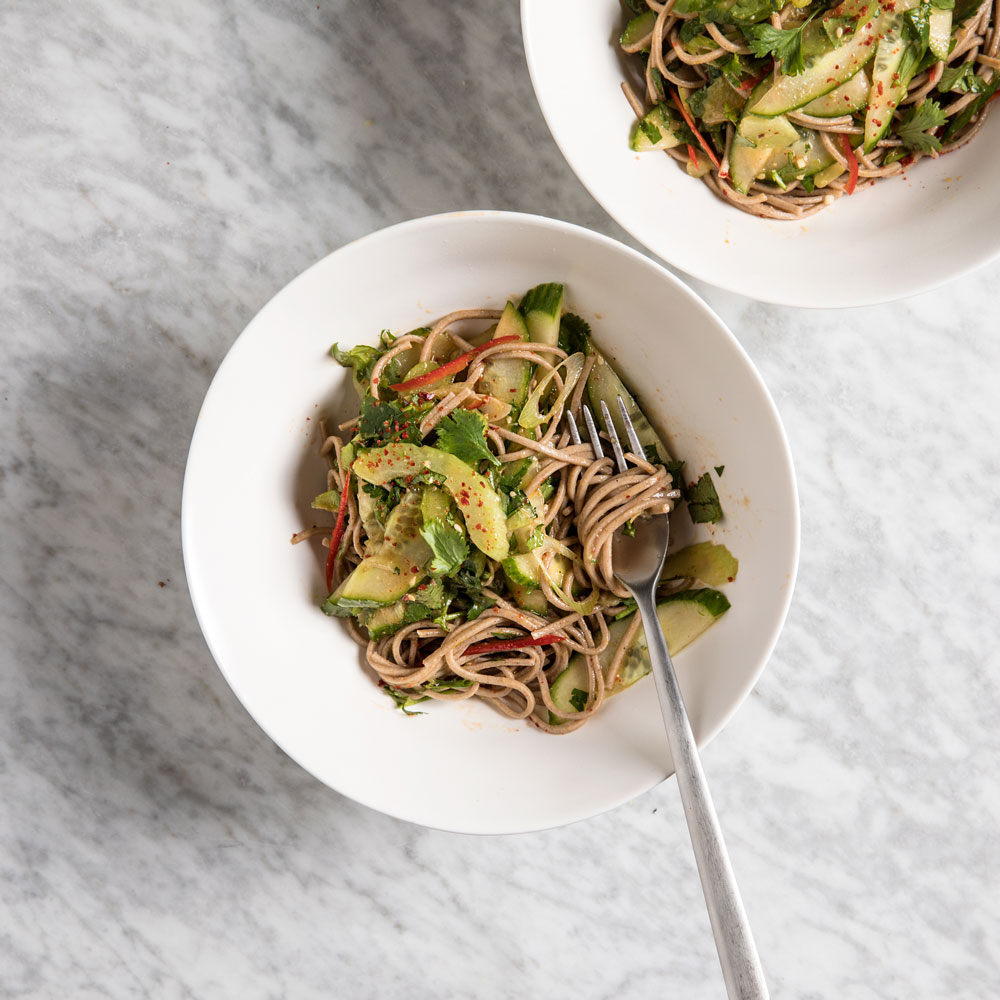 Buckwheat Soba Tiger Salad