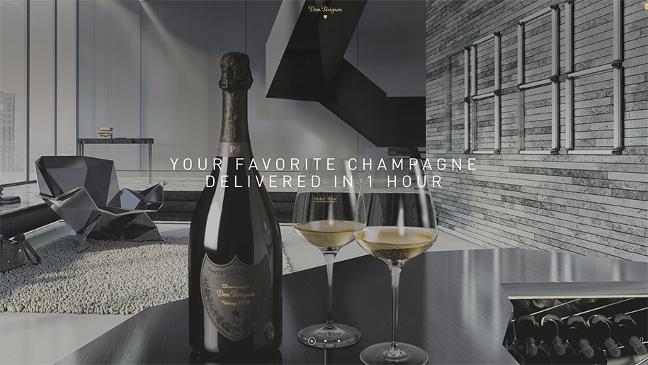 dom perignon delivery service ready to drink