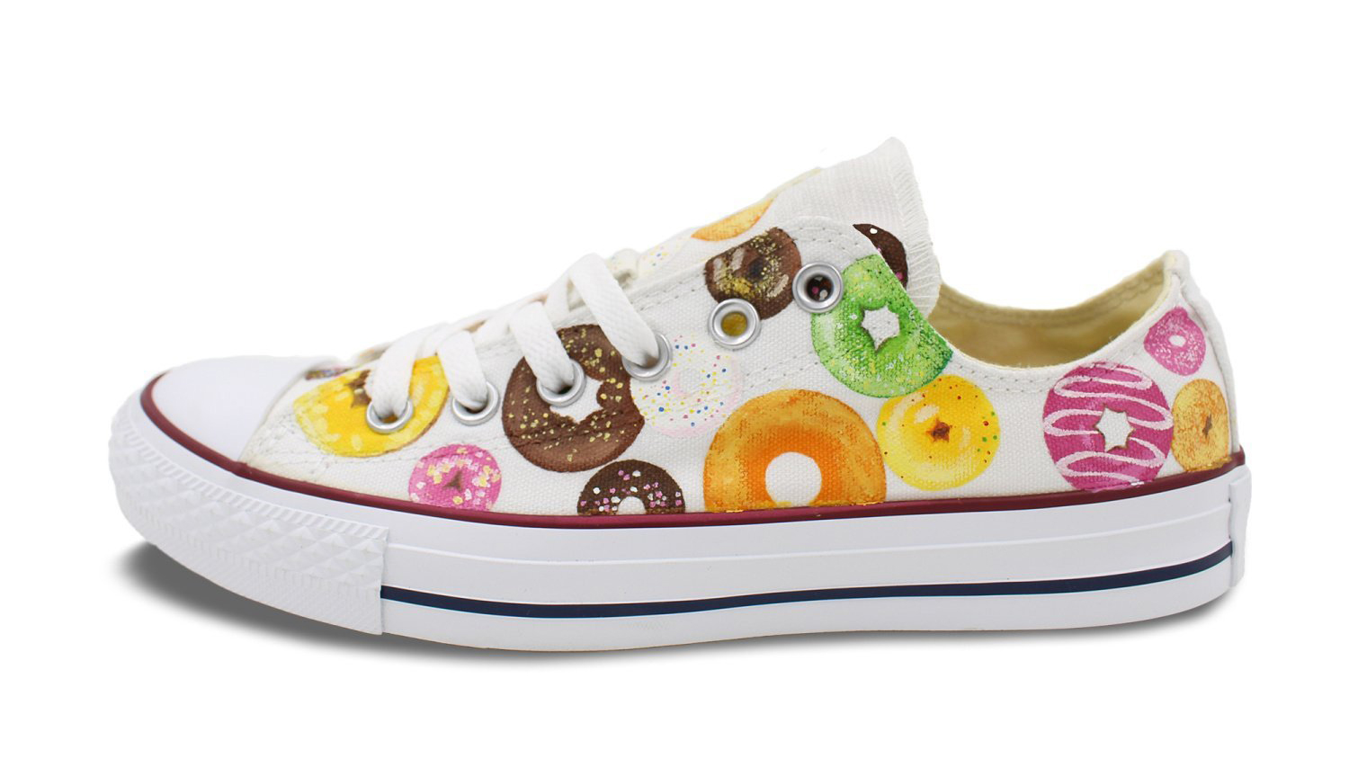 sneakers from amazon with doughnuts