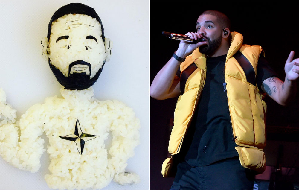 Tupac, Drake, and Kanye West have been immortalised in delicious sushi