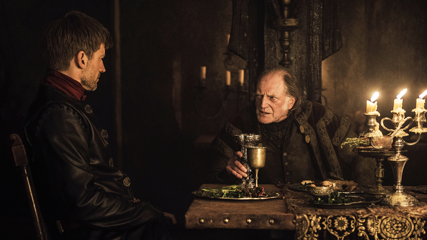 game of thrones jamie lannister and frey over food