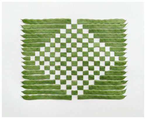 geometric bean pattern