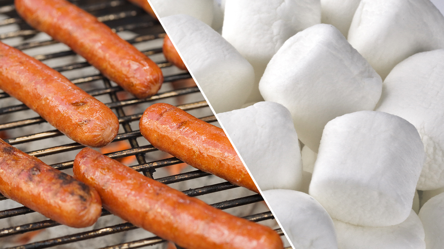 hot dogs and marshmallow
