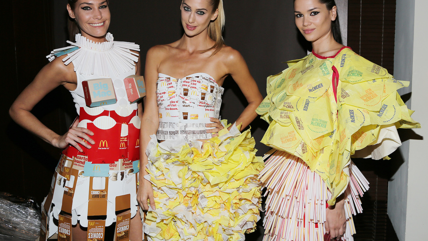 info for c2e00 8b69f Behold 6 Fashion Show Looks Made with McDonalds Packaging