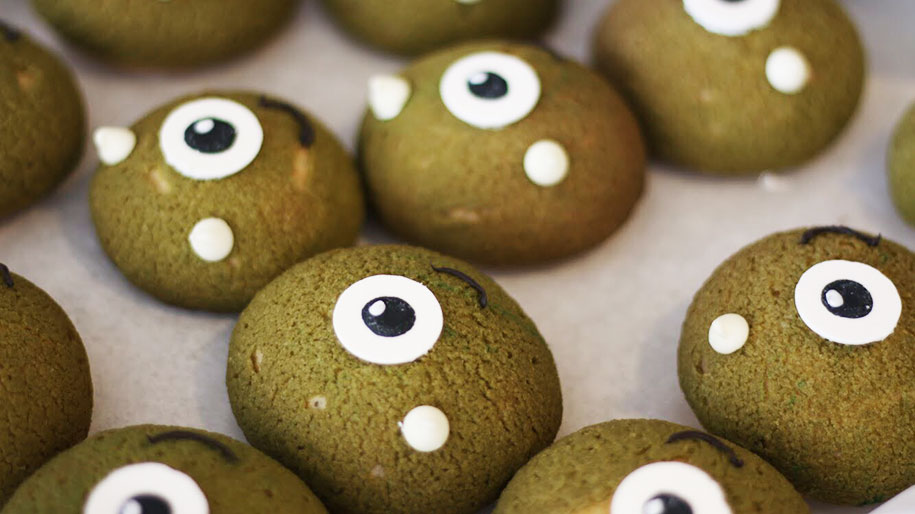 one-eyed monster cream puffs by simple spoons
